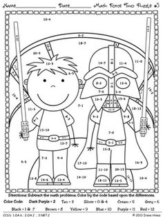 Free math coloring sheets for 2nd grade