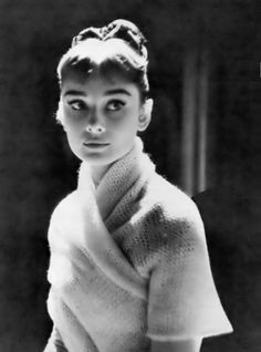 Audrey Hepburn during the filming of War and Peace (1956).