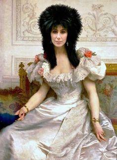 Ridiculous Celebrity Art: Cher  - Renaissance Portrait