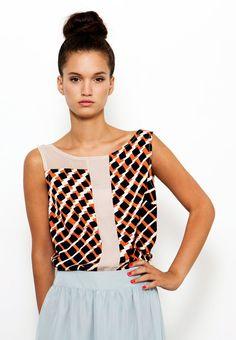 Summer Elegant Blouse, V-Back Shirt