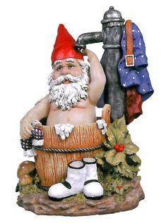 Design Toscano Tubby the Bathing Garden Gnome Statue
