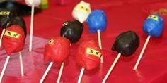 Ninjago birthday cake pops