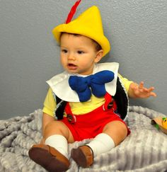Halloween costume Pinocchio inspired outfit babies boys toddler Kids children infant Halloween costumes.. $149.00, via Etsy.