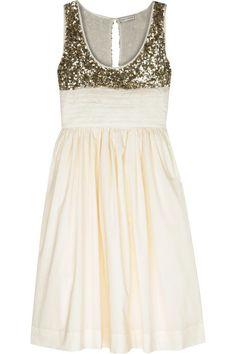 sequin + cotton sleeveless dress. perfection.