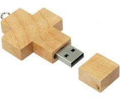 Wooden Cross USB ($19.99) because Jesus saves.