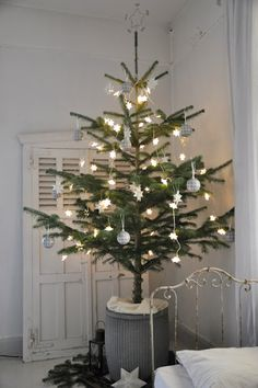 xmas trees, gamla skolan, scandinavian christma, christma tree, white christmas, dens, christmas bedroom, den gamla, christmas trees