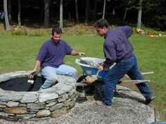 Stone Fire Pit - How to