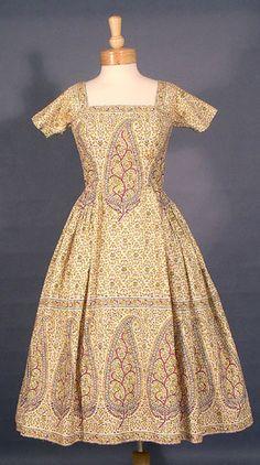 SUPERB 1950's Tina Leser Summer Dress
