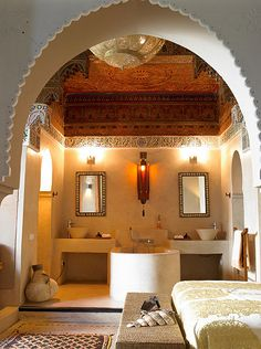 Moroccan bed and bath