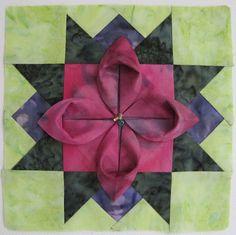 Folded flower block