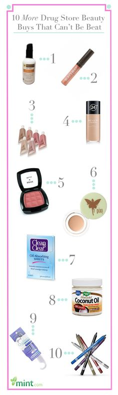 10 More Drug Store Beauty Buys That Can't Be Beat :: Mint.com/blog