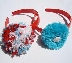 Perfectly Simple Pom Pom Headband - super easy tutorial for yarn pom poms!