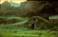 Icelandic Turf House by exp_resso. (But we know it's really a Hobbit house.)