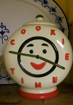 "Antique ""Cookie Time"" cookie jar (circa 1940s -1950s)"