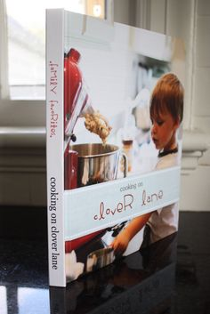 Make your own cookbook - add your own family photos and recipes. I so want to do this!!!