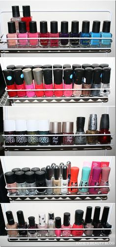 Spice rack to hold nail polish