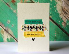 celebrate washi tape card