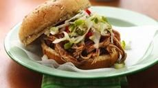 Slow Cooker Carolina Pulled-Pork Sandwiches