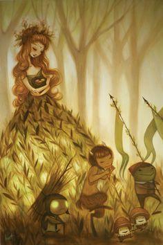 by Krista Huot forests, artists, art illustrations, queen, diaries, the artist, krista huot, magic forest, calendar