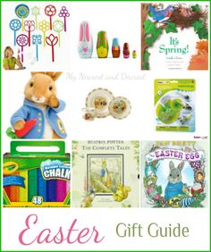Easter Gifts for Kids. Gift Guide includes beautiful keepsakes, classic books, and fun toys. My Nearest and Dearest blog.
