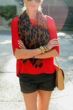 Women's Fashion in between seasons, shirt and scarf | Women's Fashion