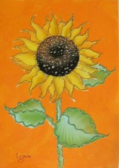 Painting+sunflowers+with+One+Stroke
