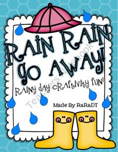 Rain, Rain Go Away! Writing Craftivities and MORE! from Growing Lifelong Learners on TeachersNotebook.com (31 pages)