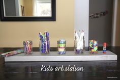 DIY Kids Art Station on iheartnaptime.net! Simple and fun!