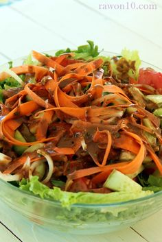 Raw on $10 a Day (or Less!): Raw Food Recipe: Super Salad with Balsamic Tahini Dressing