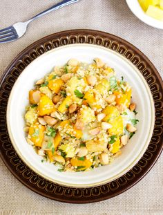 Quinoa Salad with Squash and Pineapples - Food Faith Fitness