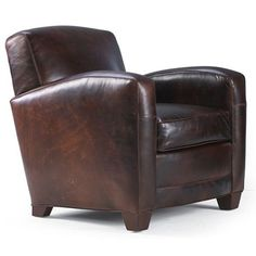 Manhattan Leather Chair (31w 34d 32h)