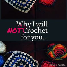 """""""Why I will NOT Crochet for you...""""  Would you teach someone an art or would you just gift them and not present them the opportunity?  Interesting point of view in this blog post!  Do you agree?"""