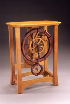Keith Chambers - wooden gear clock