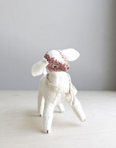 helpful farm goat / soft sculpture animal by oh, albatross on Etsy, $78.00
