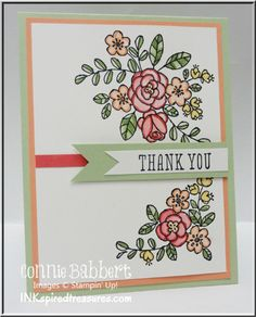 So Very Thankful, Stampin Up, flower card, Watercolor, flower card, Connie Babbert