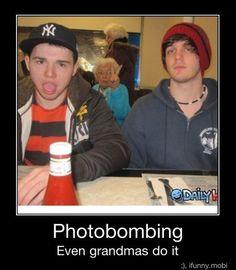 Photobombing Granny