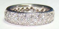Oh my! Platinum & Pave Diamond Anniversary Wedding Band 2 Carats