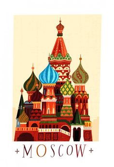 Moscow Russian Architecture Illustration architectur illustr, illustr stbasilscathedra, russia illustr