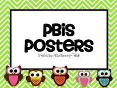 Owl PBIS posters.