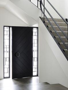 Door with side lights.