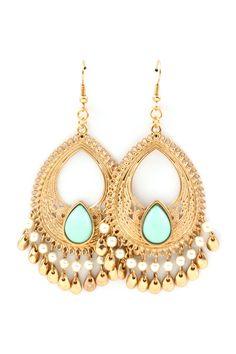 Minty Boho Chandelier Earrings