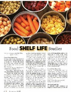 Food Shelf Life Studies