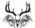 deer antler tattoo designs ideas