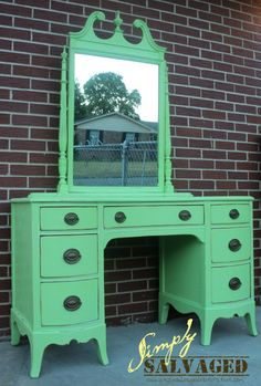 Simply Salvaged: Vanity Table Before and After