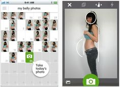 CineMama is an app that documents your entire pregnancy then creates a fun movie of all the belly pictures! I have to remember this for when the time comes :)