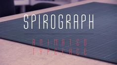 Spirograph Promo. Spirograph is an animated typeface by Calango.