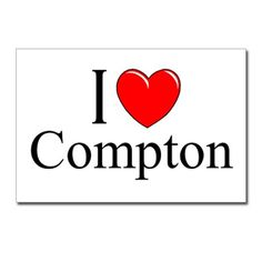 I Love Compton Postcards (Package of 8)