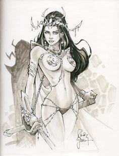 Dejah Thoris by Randy Green Comic Art