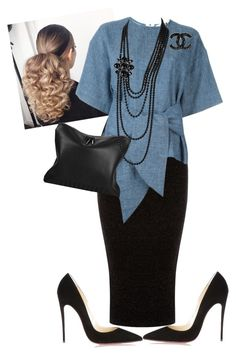 """Sunday Morning"" by cogic-fashion on Polyvore featuring Warehouse, Christian Louboutin, MSGM, 3.1 Phillip Lim and Chanel"