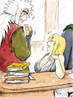 Jiraiya and Tsunade [by JIRANARU.deviantart.com on @deviantART]